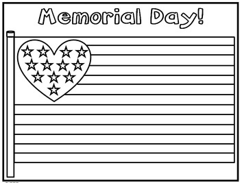 memorial day color pages free