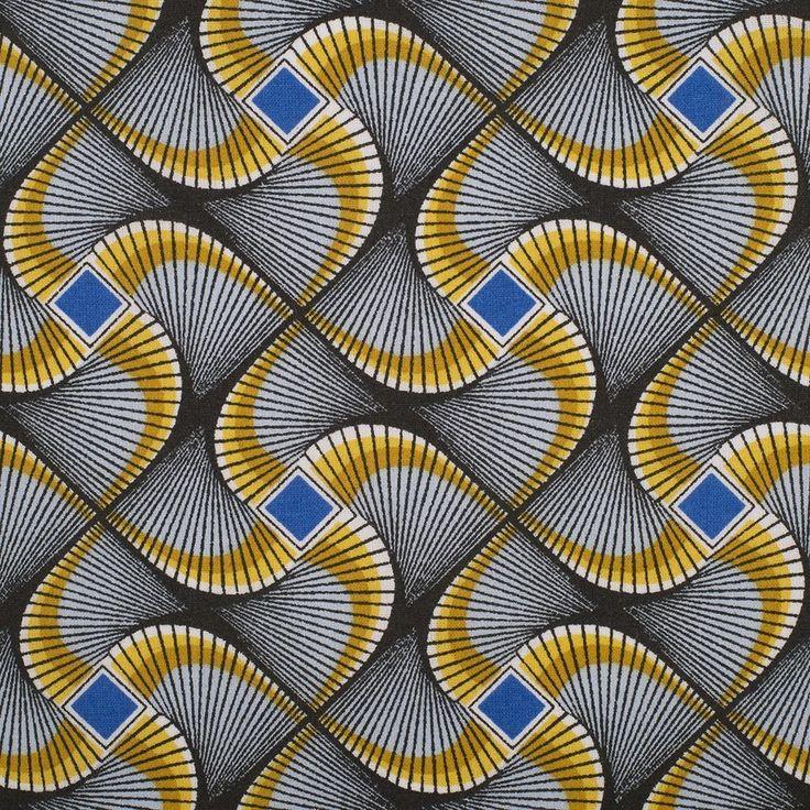 Tissu africain wax vert - Mondial Tissus
