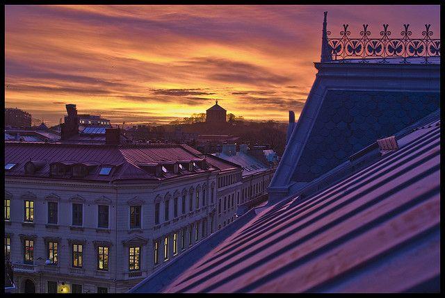 Rooftops in Gothenburg, Sweden. Photo: Mikael Wikman