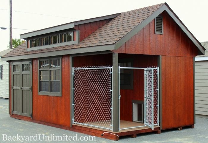 17 best images about dog house kennel on pinterest two for Sheds unlimited