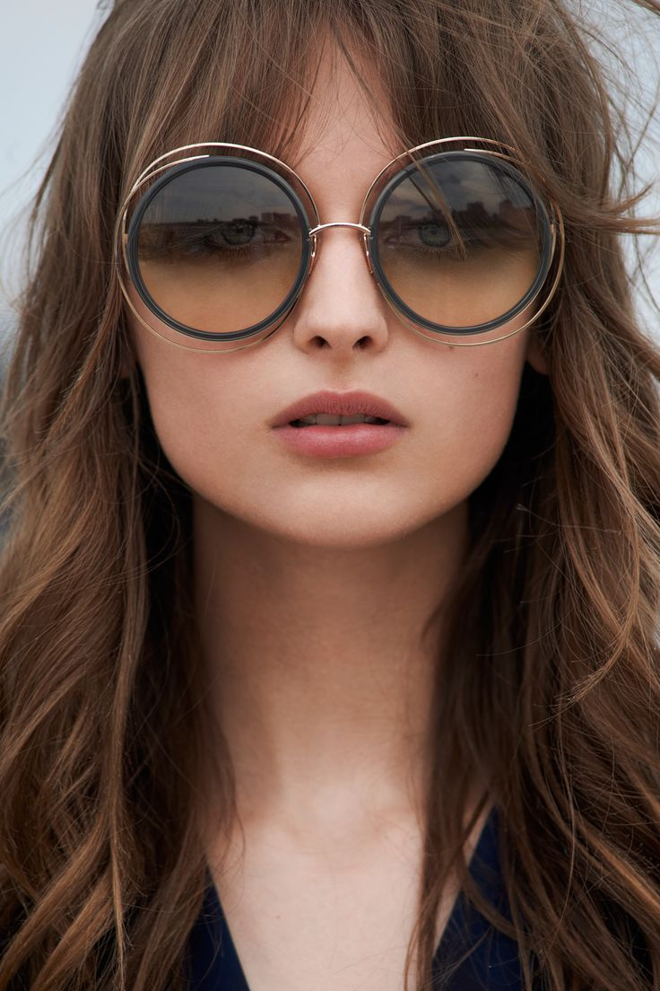 Chloe Carlina Oversized Sunglasses, 60mm | Made in Italy | 100% UV protection | Logo at sides | 60 mm lens width | Web ID:1298701
