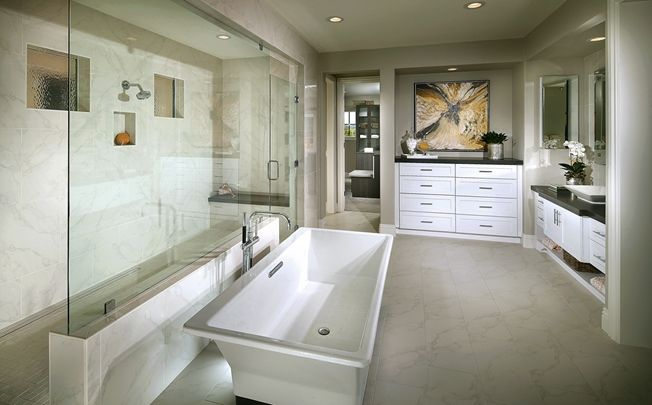 The master bath is the perfect place for relaxation with a for Perfect master bathroom