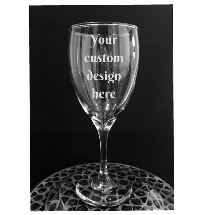 A personal favorite from my Etsy shop https://www.etsy.com/listing/477485375/custom-wine-glass-personalized-wine