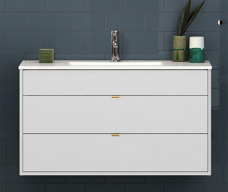 Tvättställ för bänkskiva från Graphic. Grunt mått för mer utrymme i badrummet.
