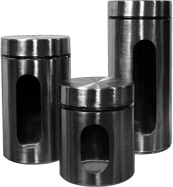 19 best stainless steel canister sets images on pinterest canister sets boxes and canisters. Black Bedroom Furniture Sets. Home Design Ideas