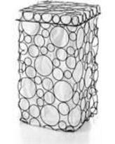 WS Bath Collections Sesti-53310 Complements Sesti Circles Burnished Metal Laundry Basket with Lid