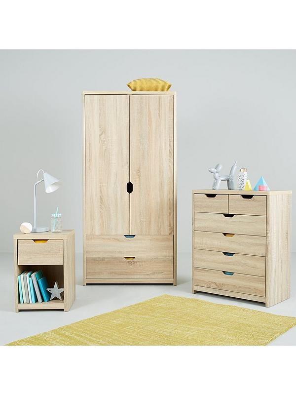 Aspen 2 Door 2 Drawer Wardrobe Oak Bedroom Furniture Furniture Oak Bedroom