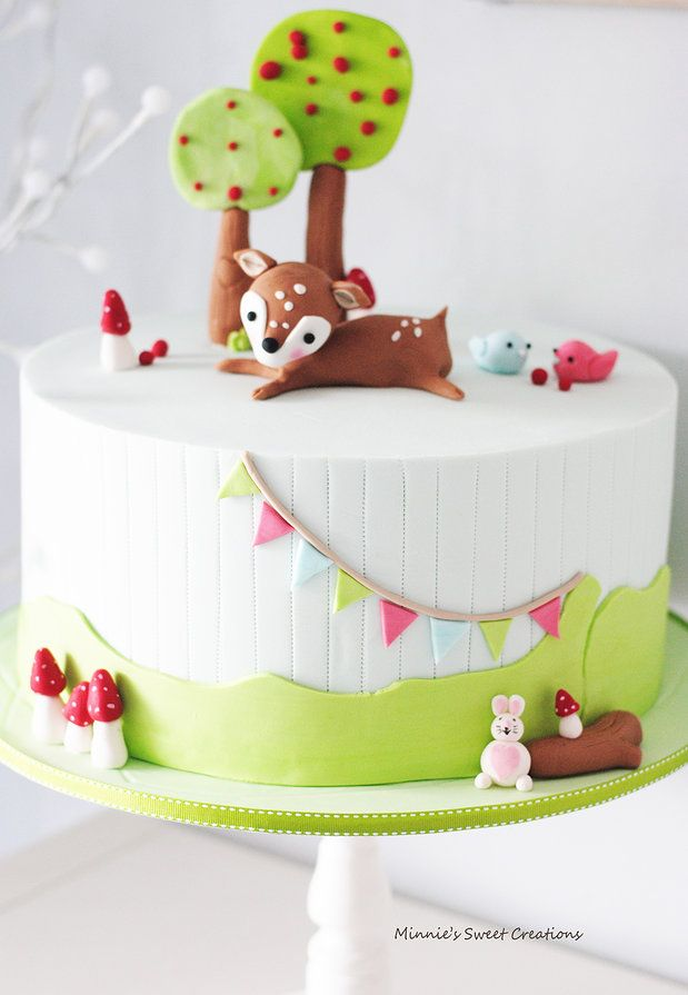 Minnie's Sweet Creations | Woodland Baby Shower Cake