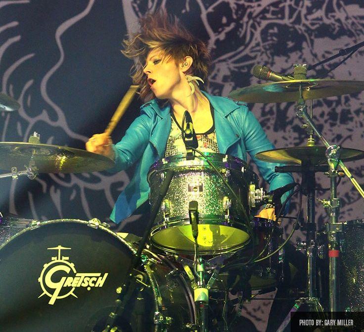 Elaine Bradley   Gretsch Drums