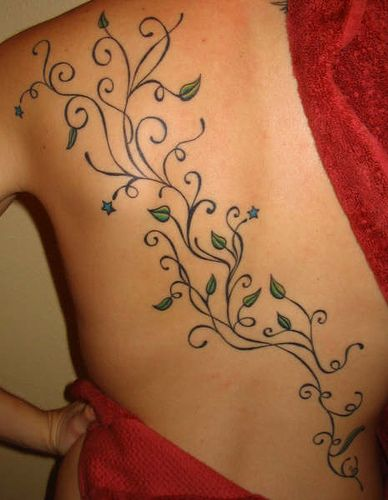 I would do this on my ankle. Tree leaves, twirls, and stars