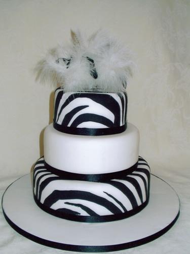 zebra print cake for my bridal shower :)