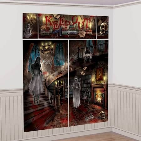 haunted mansion house carnival halloween party scene setters decorating kit details can be found by clicking on the image