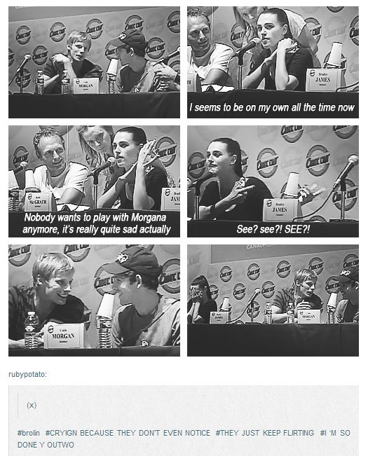 hahaha aww poor katie...but not really. brolin so cute!!! They don't even notice!!!!!! LOVE!!!! ;D