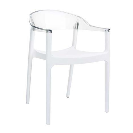 Siesta Carmen Beyaz Şeffaf Transparan Sandalye (4 adet) 059