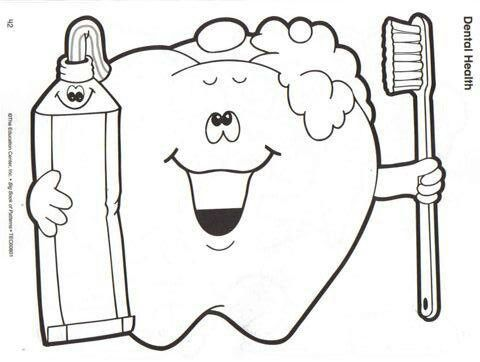 Coloring page dental health monthtoddler artpreschool