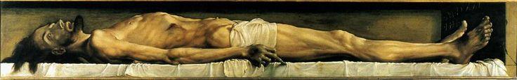 Hans Holbein.d.Jハンス・ホルバイン(1497ー1543)「Der tote Christus im Grabe(墓の中の死せるキリスト)」(1521-22)