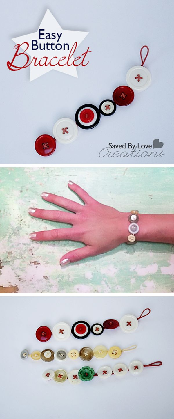 Make a Button Bracelet #jewelrymaking @savedbyloves