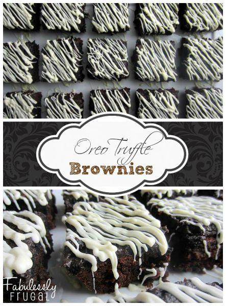 Oreo Truffle Brownies Recipe. Oreos, cream cheese, brownies...yes, please!