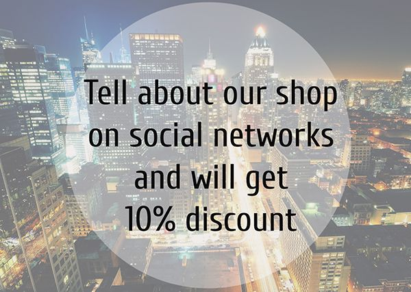 Discount banner. Tell about uor shop in social networks and will gett discount 10% #discount #discountbanner #jewelry #shop