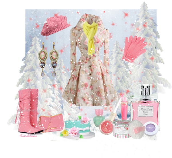 """""""Spring in Winter"""" by fiordiluna on Polyvore"""