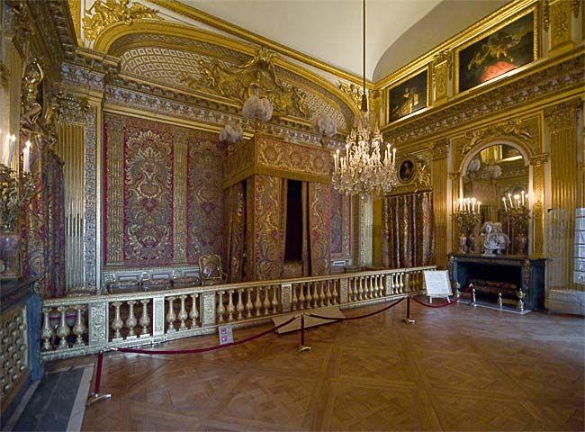 ch teau de versailles grands appartements du roi chambre du roi versaille i pinterest. Black Bedroom Furniture Sets. Home Design Ideas
