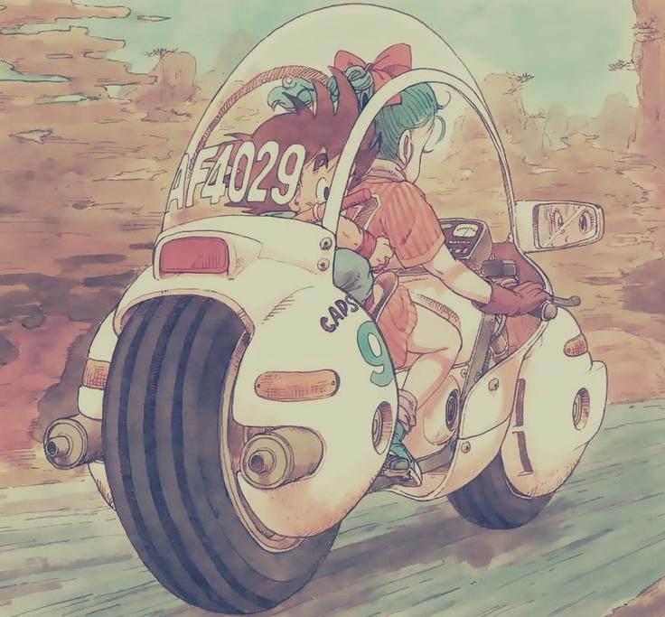 Bulma and kid Goku