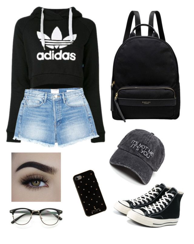 """Untitled #10"" by hannaklar on Polyvore featuring Converse, Radley, adidas, Frame and Kate Spade"