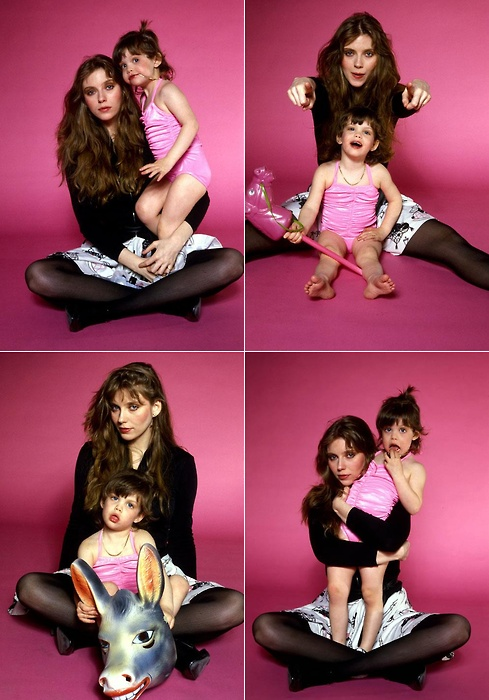 Bebe Buell with little Liv