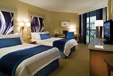 Perfect room for families to share on a weekend getaway.  All rooms have fantastic views of the water.