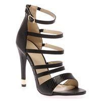 Buy Athena Black Lizard Strappy Heeled Sandal £14.99 from Women's Sandals range…
