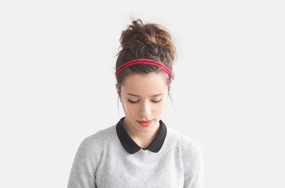 SALE 15% OFF / Crochet Braided Headband Double Braid by Plexida