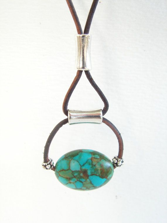 Chunky turquoise necklace - I think this makes a great inspiration for a DIY at home version. Looks fairly simple to duplicate!