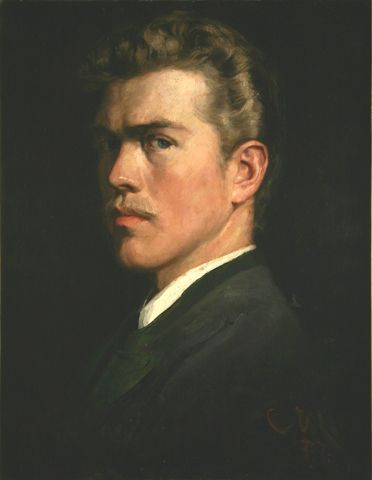 Self-Portrait, 1877, Carl von Marr, Museum of Wisconsin Art, 0078.