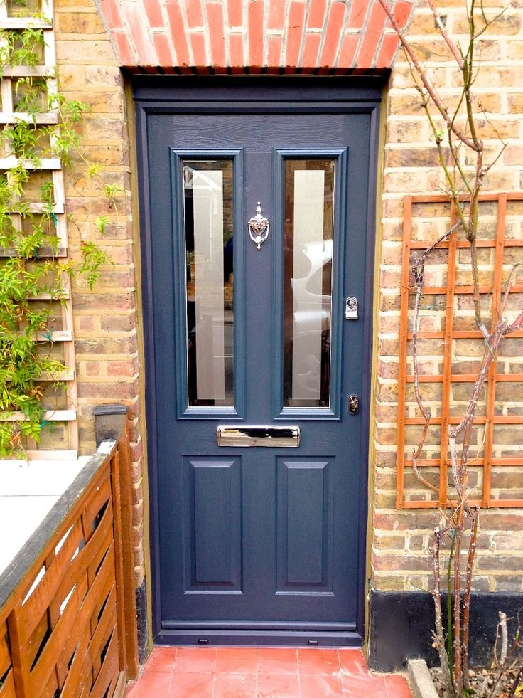 A modern grey composite door recently fitted by our team for Exterior doors fitted