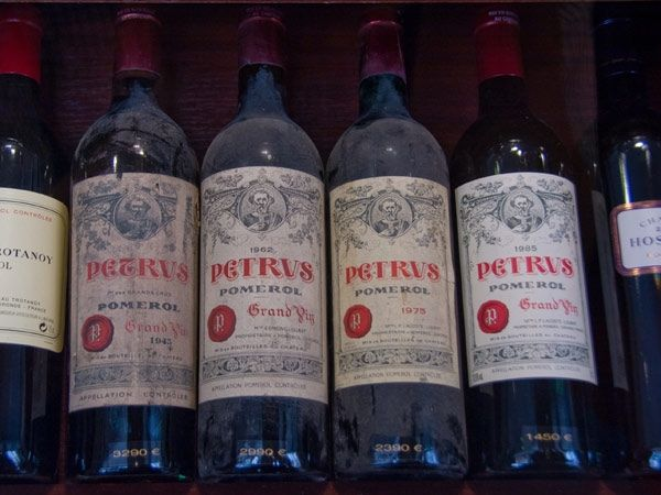 Château Petrus Wine: One of the most distinguished wines; it is globally sought after, considered a blue chip wine and a collectible. But obviously, the Chateau Petrus is one of the most expensive wines too. Not only are the wines made from top quality merlot grapes, but are never filtered for the fear of losing its incredible richness.
