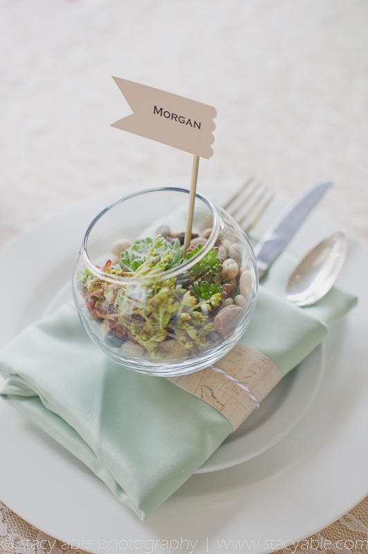 table decor and guest favour, all in one!