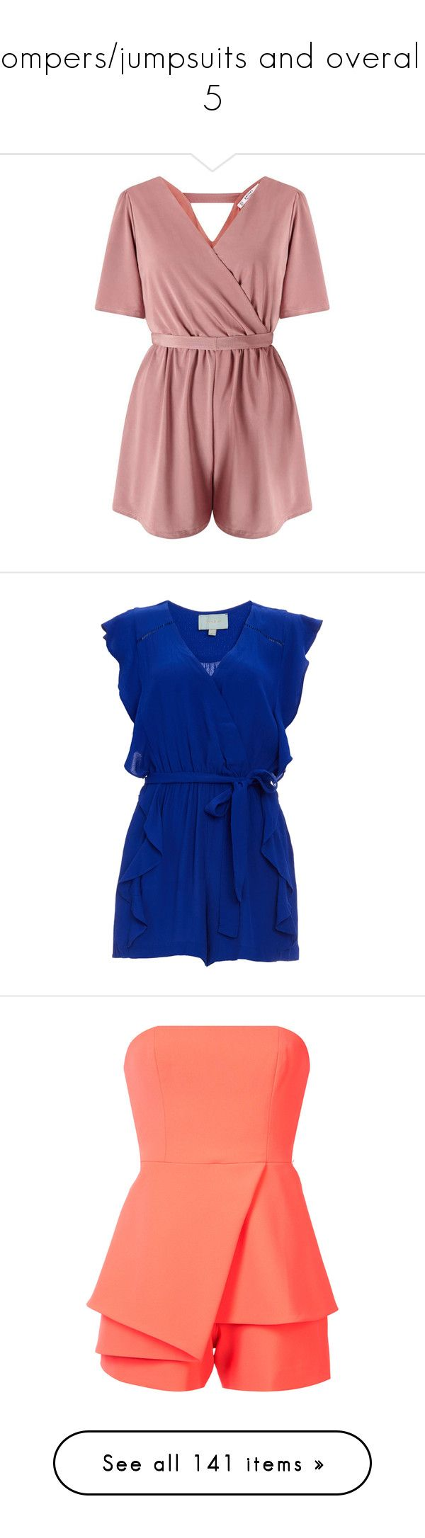 """""""Rompers/jumpsuits and overalls 5"""" by musicmelody1 on Polyvore featuring jumpsuits, rompers, dresses, playsuits, enterizos, jumper, mink, petite, red rompers and miss selfridge"""