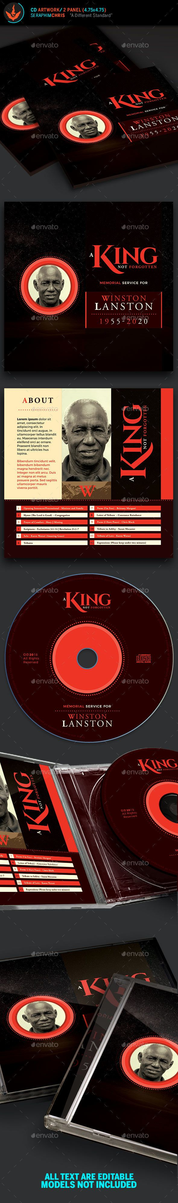 King Funeral #CD Artwork Template - CD & #DVD Artwork Print Templates