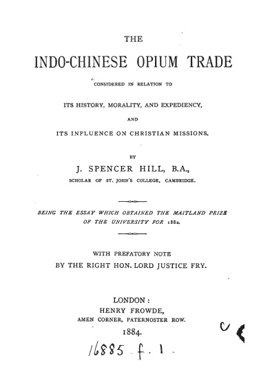 history of chinese opium trade and