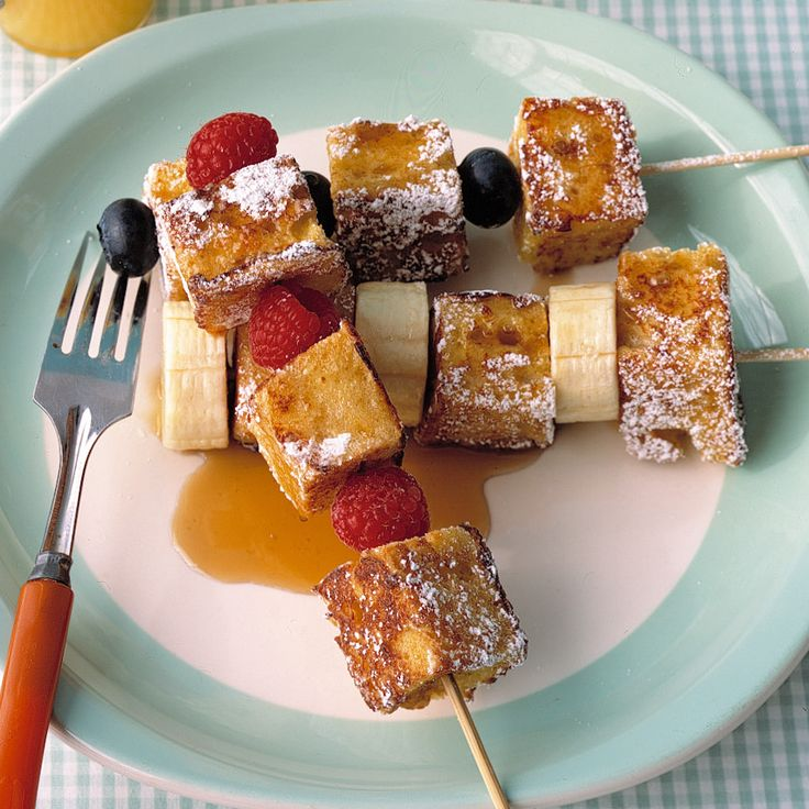 Even The Pickiest Eaters Will Gobble Up These Breakfast Skewers
