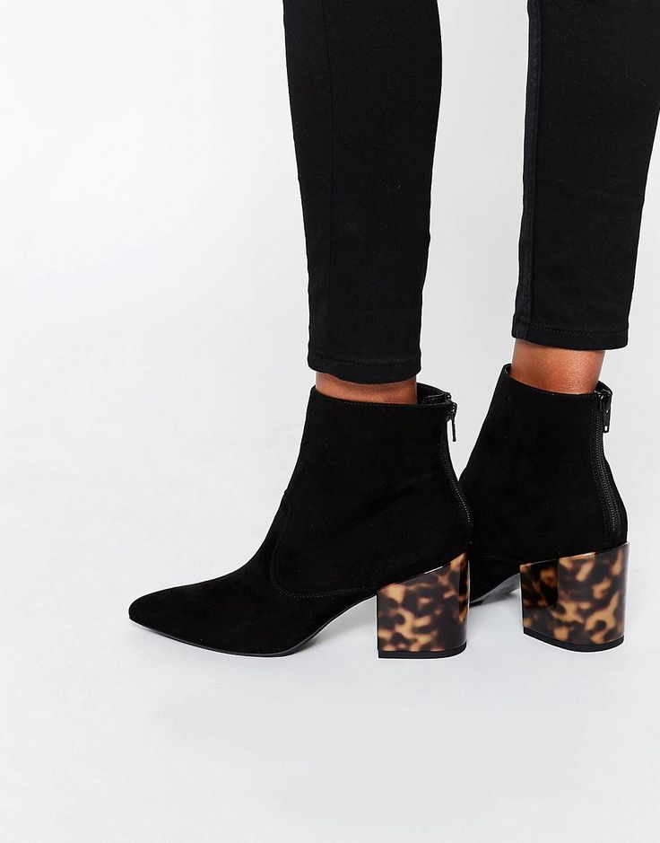 Pin for Later: 17 Pairs of Ankle Boots You'll Want to Snap Up Before Autumn  Hits Asos Reach Pointed Ankle Boots Asos Reach Pointed Ankle Boots in Black