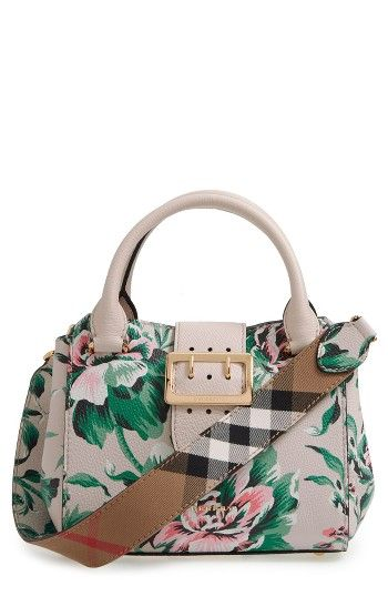 Free shipping and returns on Burberry Small Buckle Floral Calfskin Leather Satchel at Nordstrom.com. Pre-order this style today! Add to Shopping Bag to view approximate ship date. You'll be charged only when your item ships.A small satchel makes a major style impact with oversized, logo-etched hardware and a vintage floral print on supple calfskin leather. A signature-plaid statement strap or thin leather crossbody strap can be easily attached and removed for hands-free convenience.
