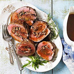 Beef Tenderloin with Parmesan-Herb Stuffing