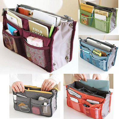Slim Bag-in-Bag Purse Organizer - Assorted Colors
