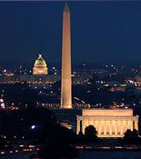 WASHINGTON DC: Monuments by Moonlight