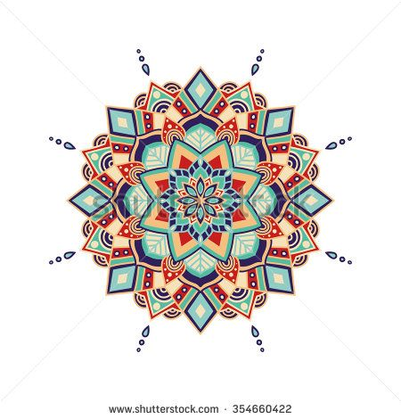 Vector Ornamental Mandala, Printable Round Pattern With Many Details. Arabic, Indian, Asian, African Motive For Logo, Business Card, Banner, Invitation, Background, Label, Etc. Ready For Print - 354660422 : Shutterstock