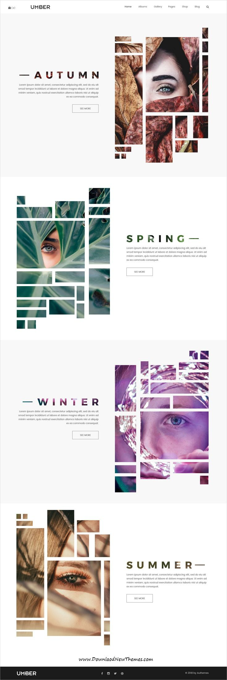 Umber is clean and modern design #PSDtemplate for …