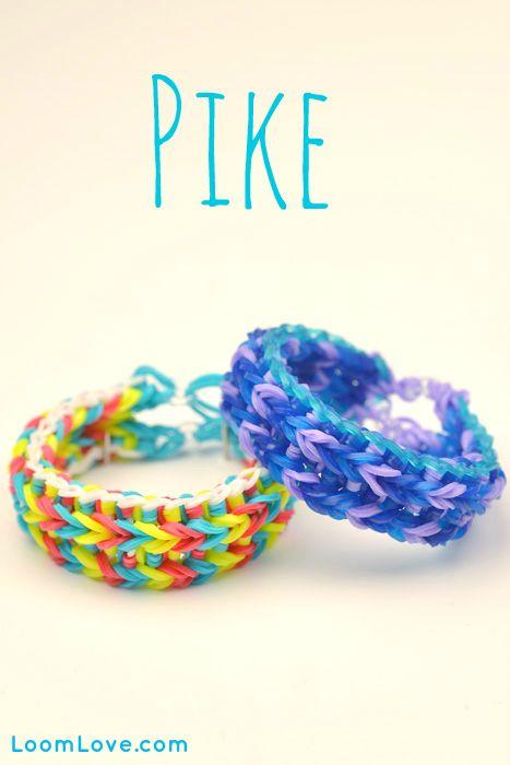 How to Make a Rainbow Loom Pike Bracelet #rainbowloom