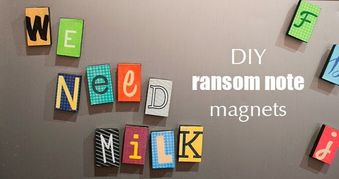 These ransom note magnets are easy to make with Mod Podge!