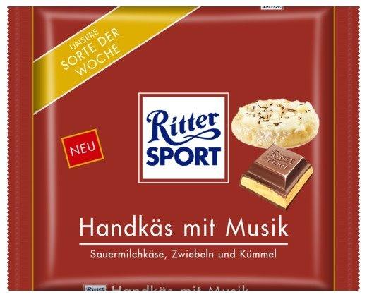 RITTER SPORT Fake Schokolade Handkäs mit Musik